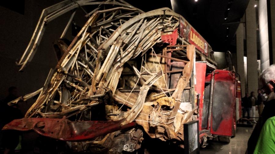 mangled firetruck